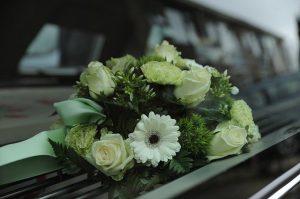 Beispiel Blumen zur Trauerfeier, Blumen-Service